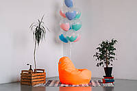 Оранжевое кресло-мешок груша 100*75 см из ткани Оксфорд, фото 1