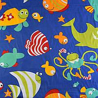 641298493 - Деко-коттон синий аквариум, ш.150