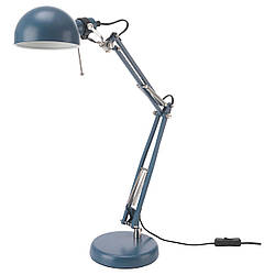 ✅ IKEA FORSA (303.580.26) Настольная лампа синяя