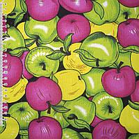 """641973440 - тк. мебельная в разноцветные """"яблоки"""" ш.150"""