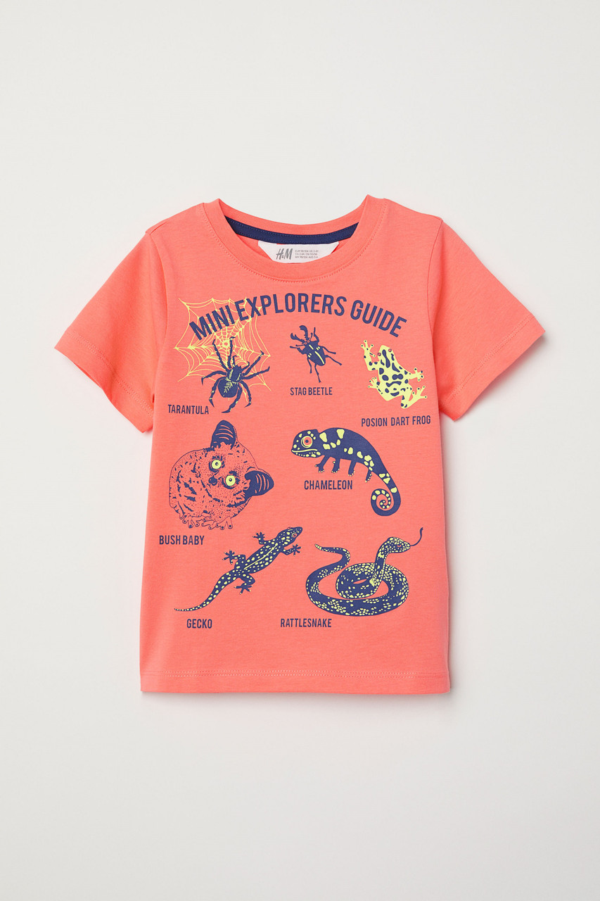 Футболка H&M T-shirt with Printed Motif