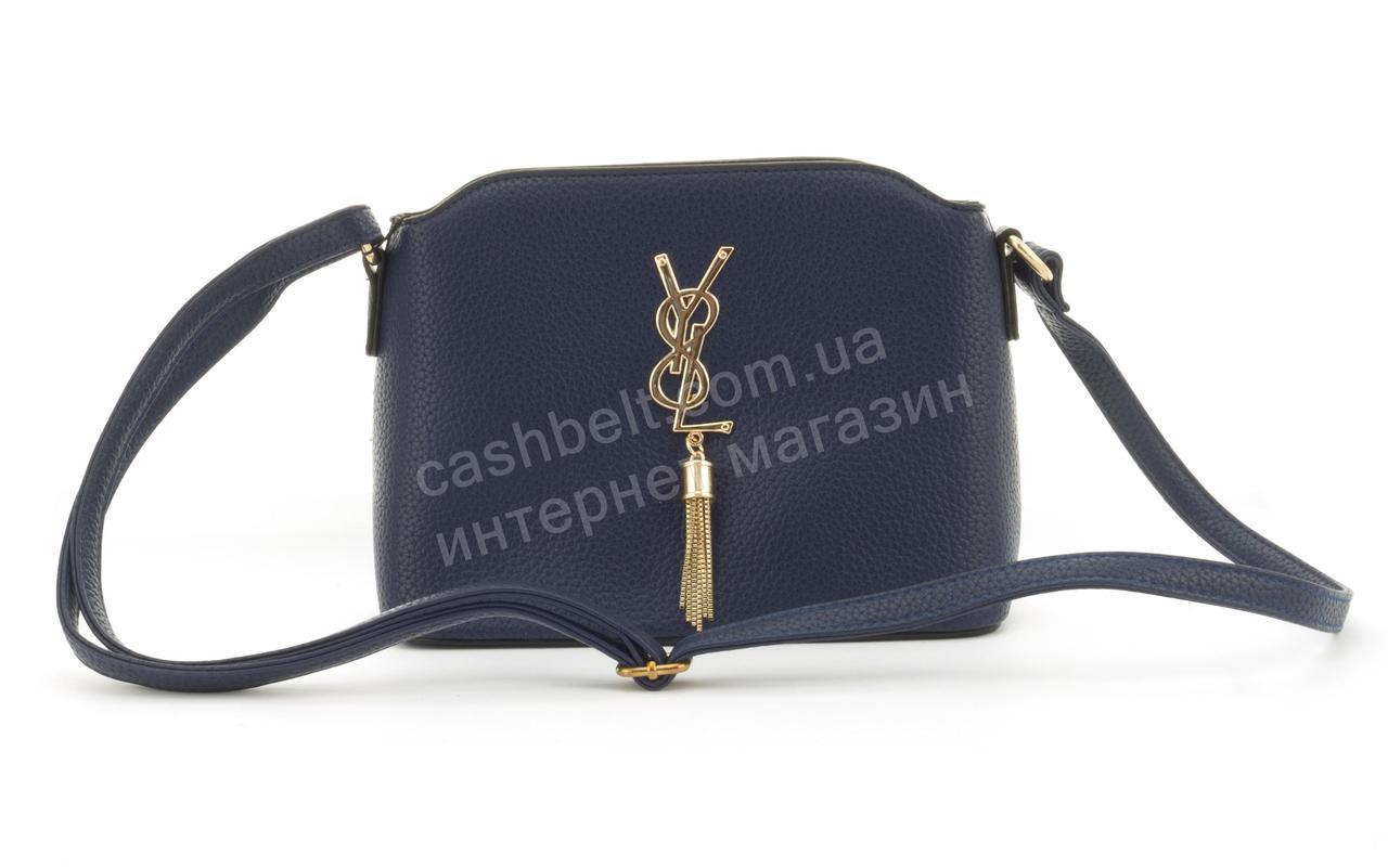 Суперстильная небольшая вместительная женская сумочка клатч Love Dream art. F26 синяя