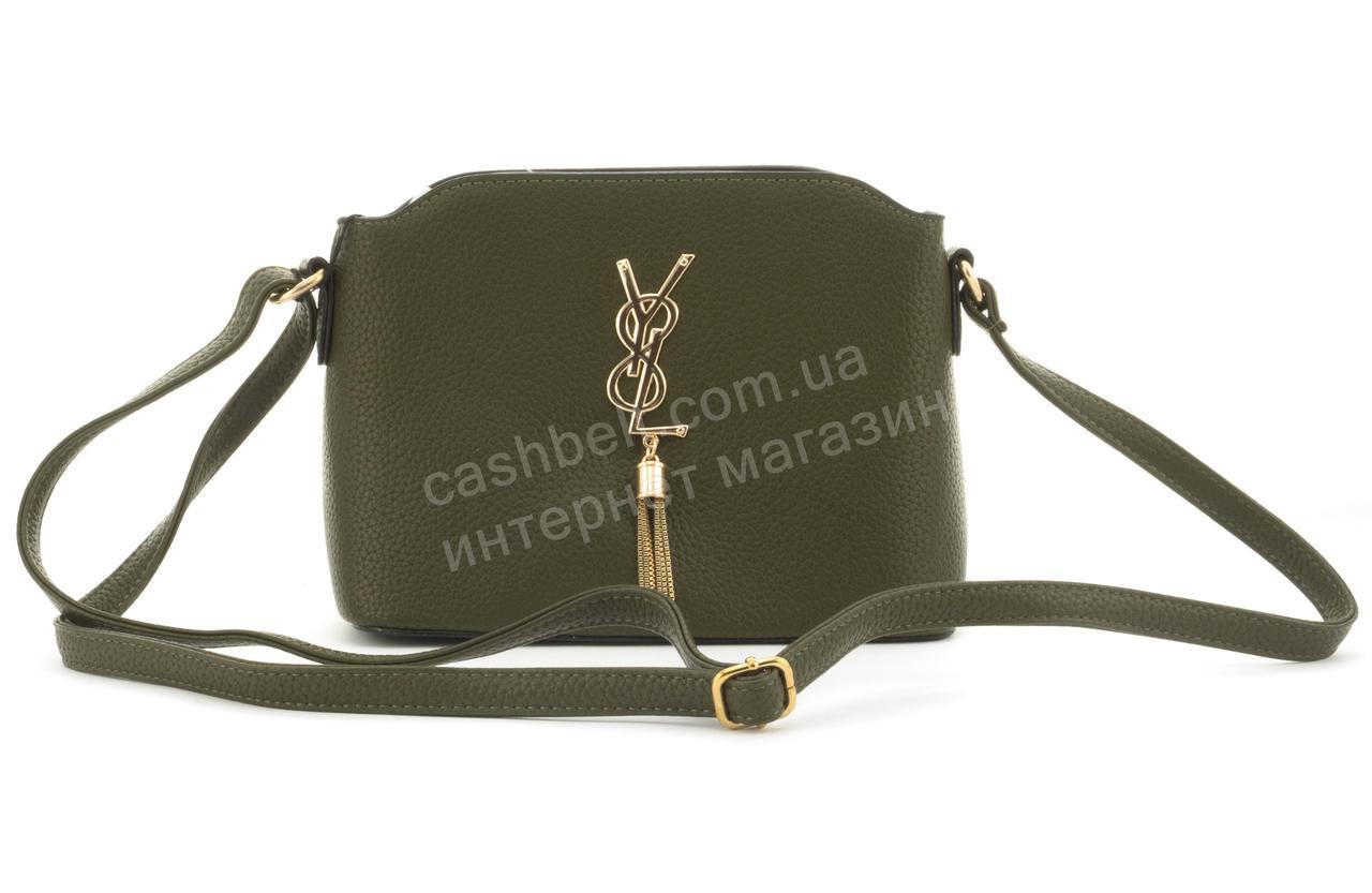 a1719441689f Суперстильная небольшая вместительная женская сумочка клатч Love Dream art.  F26 оливковая