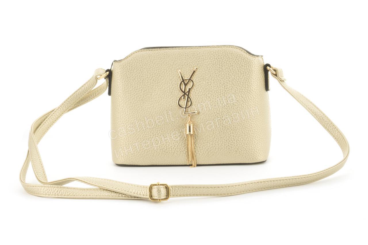 0ec341671c0c Суперстильная небольшая вместительная женская сумочка клатч Love Dream art.  F26 золотистая