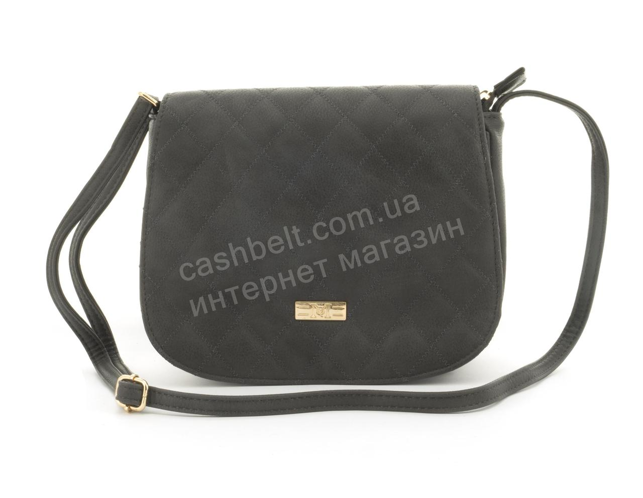 7be89eef902b Удобная небольшая вместительная женская сумочка почтальонка Love Dream art.  A1755 серая