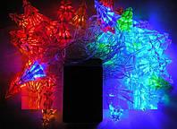 Гирлянда новогодняя «Ёлочка», электрическая, светодиодная, 50 led rgb, 6 метров в длину, прозрачный провод