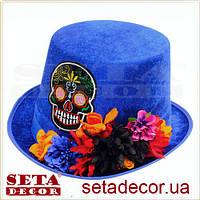 Шляпа синяя цилиндр Санта Круз