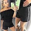 Женские шорты с пришитым украшением
