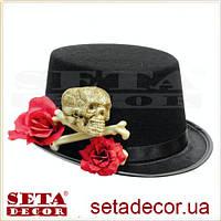 Шляпа чёрный цилиндр Сан Хуанито детская
