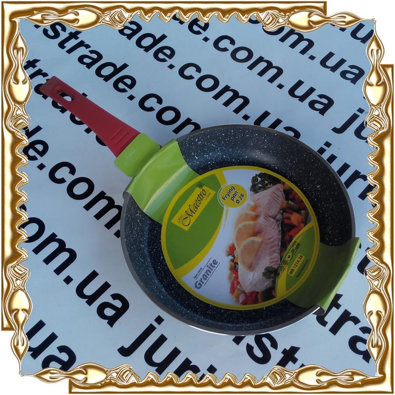 Сковорода Maestro антиприг. покрыт. Granite, индукц. дно. MR-1214-28