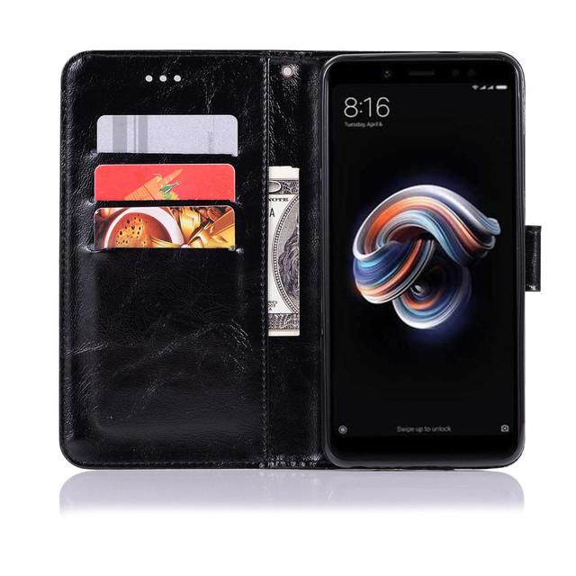 чехол Xiaomi redmi note 5 книжка  Premium Vintage черный
