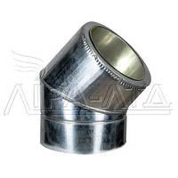 Колено термо 45° Ф160/220 нерж/оц AiSi304 ≠0,5мм