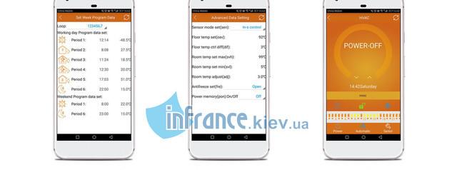 управление терморегулятором Klimteh BHT-323 WiFi