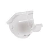 Кут ринви Nicoll Д=115 мм, 135 град, колір білий