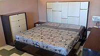 Спальня  MERIDA (Мерида) Sof, комбинация цвета серый орех + светлый орех