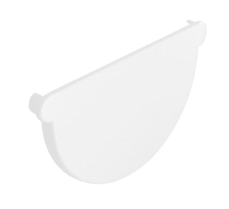Заглушка жёлоба Nicoll, Д=115мм, цвет белый