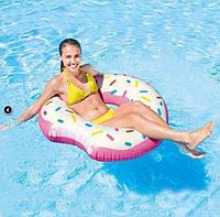 Надувной круг Надкушенный пончик Intex 56265 диаметр 107 см