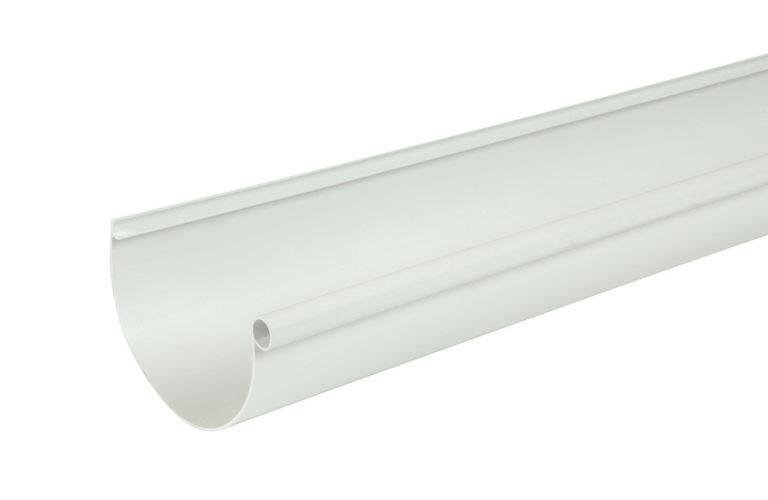 Жёлоб водосточный Nicoll Д=115мм, дл.=4000мм, цвет белый