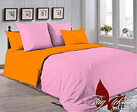 Однотонный двуспальный семейный комплект постельного белья P-2311(1263)