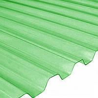 Прозрачный ПВХ лист WHR 70/18 1.8*0.9 Salux, зеленая прозрачная трапеция