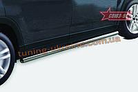 Пороги труба d60 Союз 96 на Chevrolet Orlando 2013