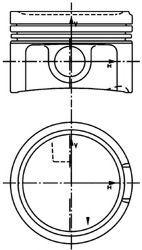 Групи kolbenschmidt Поршні VAG 1.8 Turbo 99-10
