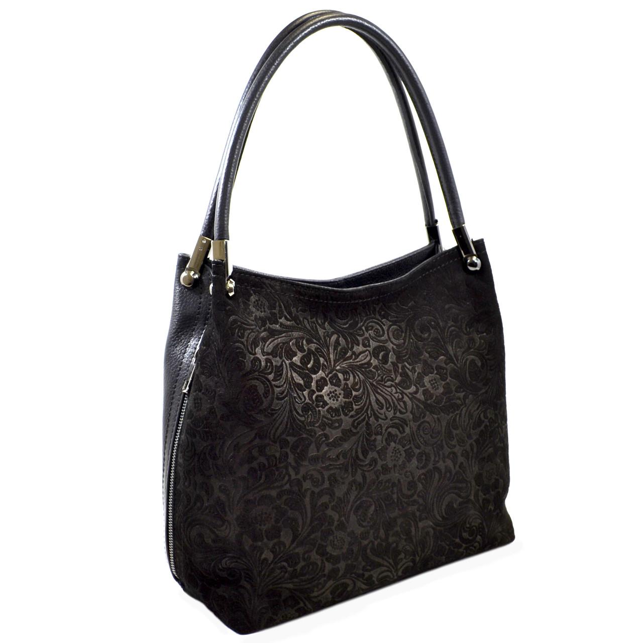 Большая женская кожаная сумка через плечо Desisan