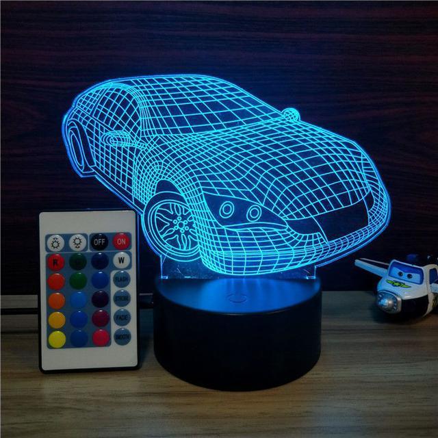 3D лампа ночник светильник