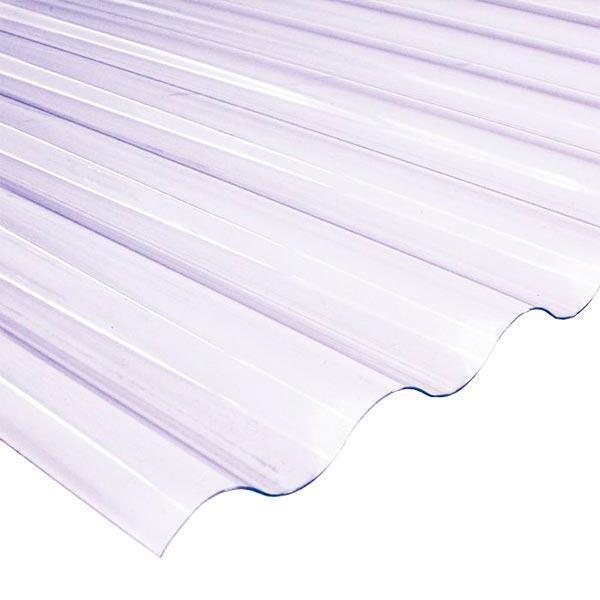 Прозрачный ПВХ лист SALUX WHR 76/18 1.8*0.9, прозрачная волна