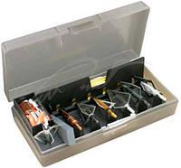 Коробка пластмассовая MTM Broadhead Accessory для 6 наконечников стрел и прочих комплектующих. Размеры – 11,5х