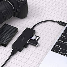 Адаптер USB C Hub AUKEY CB-C65 SD/TF Card Reader + 3 USB 3.0 порта, фото 2