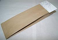 Бумажный пакет для хлеба 310х100х30 крафт бурый вторичный