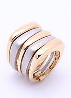 91131 Стильное кольцо из меди, покрытой родием и  золотом 24 карата.