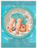 """Схема для вышивки бисером  """"Метрика для мальчика"""" 172"""