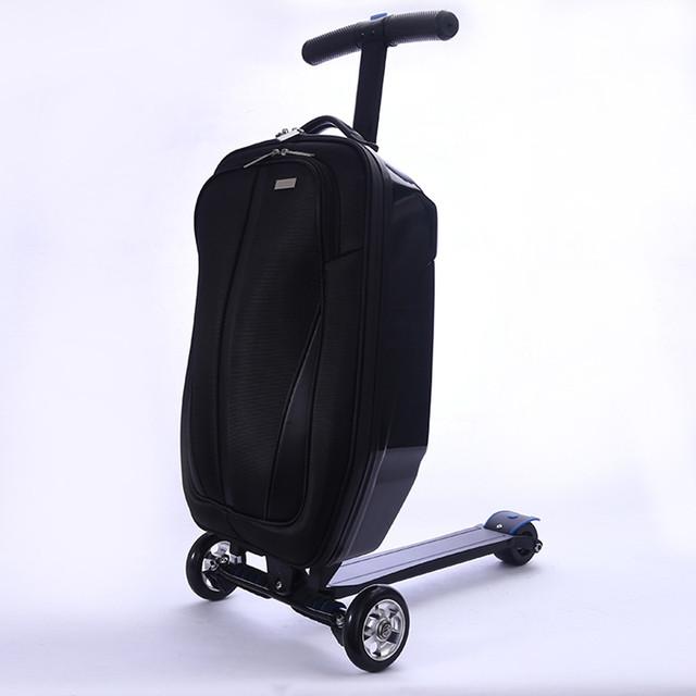 скутер чемодан 2 в 1 для перевозки личного багажа.