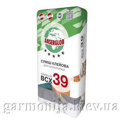 Клей для приклеивания утеплителя Anserglob BCX 39 25 кг, фото 2