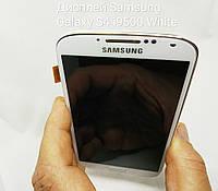 Дисплей, модуль с рамкой для Samsung Galaxy S4 i9505, i9500 white, фото 1