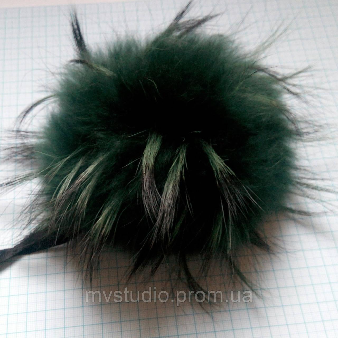 Помпон из натурального меха енота - 21 см