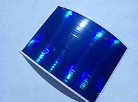 Ленты-скотч разной толщины. Цвет - синий металик. размер 9х12см