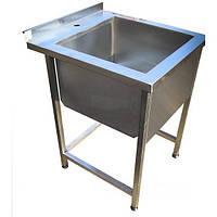 Ванна моечная 1-но секционная сварная из нержавеющей стали