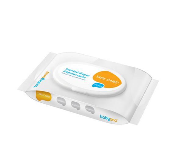 Пакеты ароматизированные для использованных подгузников 100 шт. Baby Ono