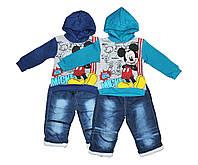 Костюм детский утепленный с джинсовыми брюками двойка для мальчика. НКС, фото 1