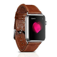 Ремешок Icarer для Apple Watch Classic Genuine Leather Series Watchband-38mm