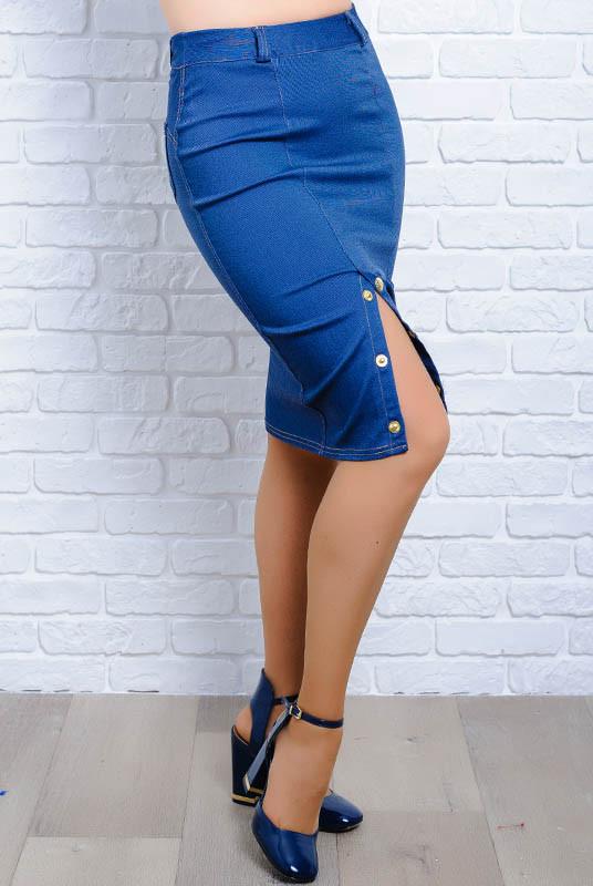 Синяя джинсовая юбка *Старла*