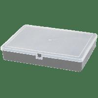 Органайзер для мелочей 204х141х34 мм с крышкой (металлик)