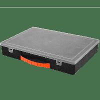 Органайзер для инструментов и мелочей 355х250х55 мм с крышкой (черный)