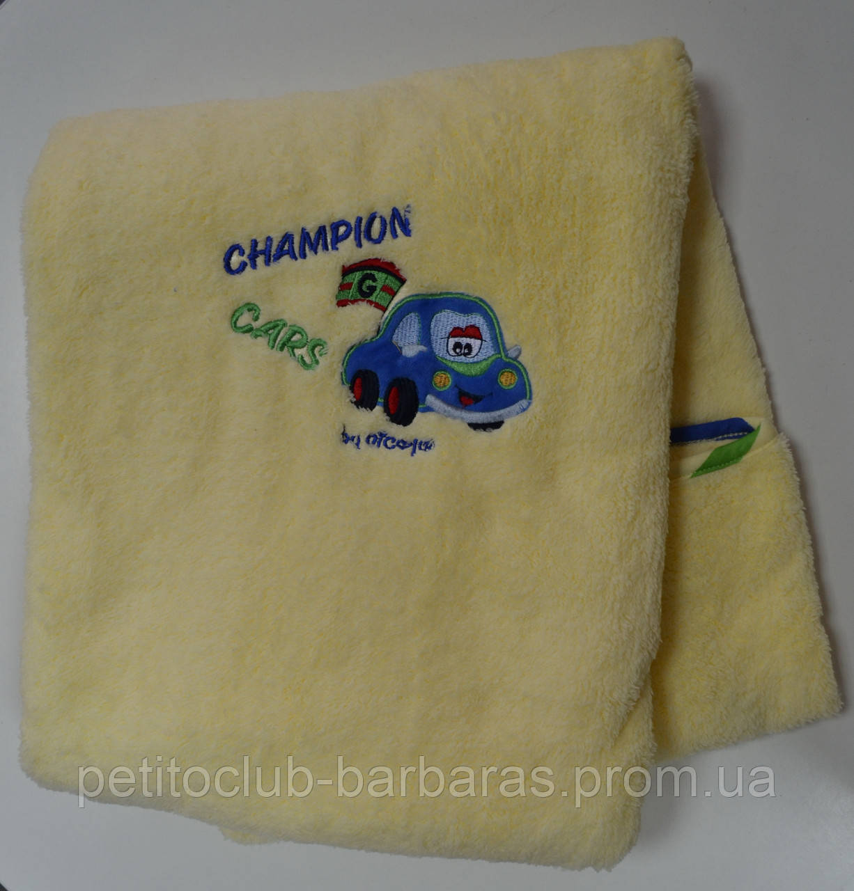 "Плед детский желтый ""Champion cars"" (80*100 см) (NICOL, Польша)"