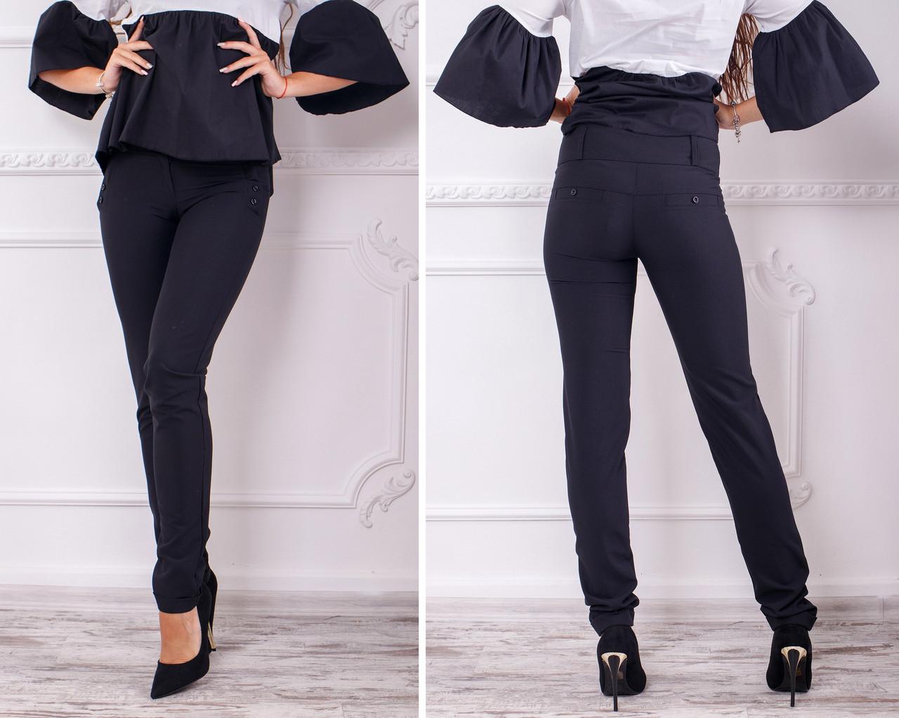 Классические брюки 42-48 р чёрный