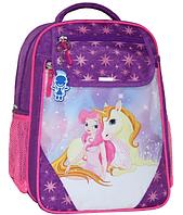 Школьный ортопедический рюкзак Bagland для девочки фиолетовый