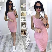 Женское облегающие платье майка